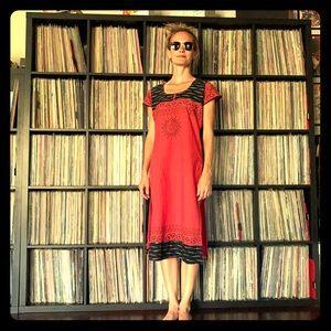 Vintage Kurta Tunic Dress ORGANIC Cotton Dharma XS